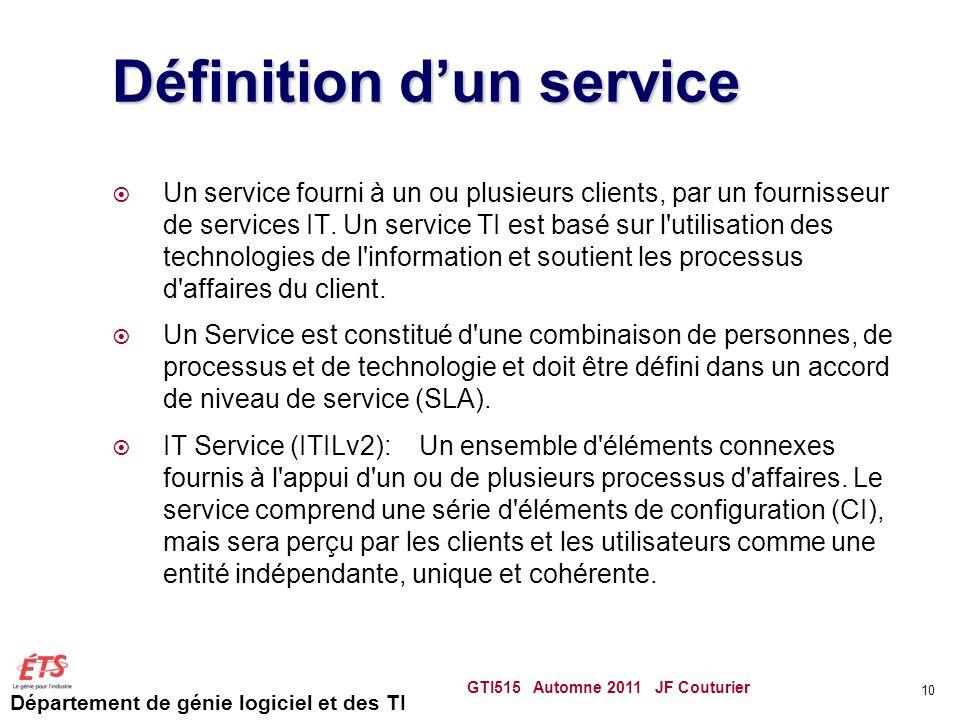 Définition d'un service