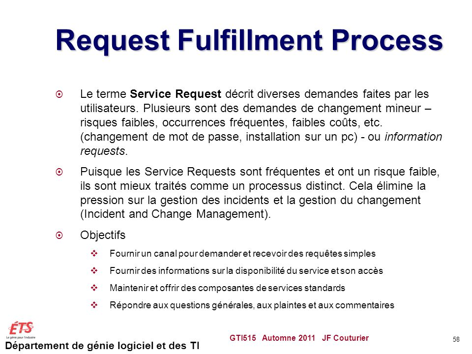 Request Fulfillment Process