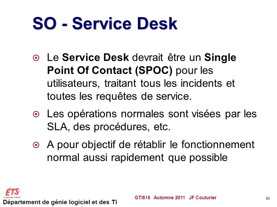 SO - Service Desk
