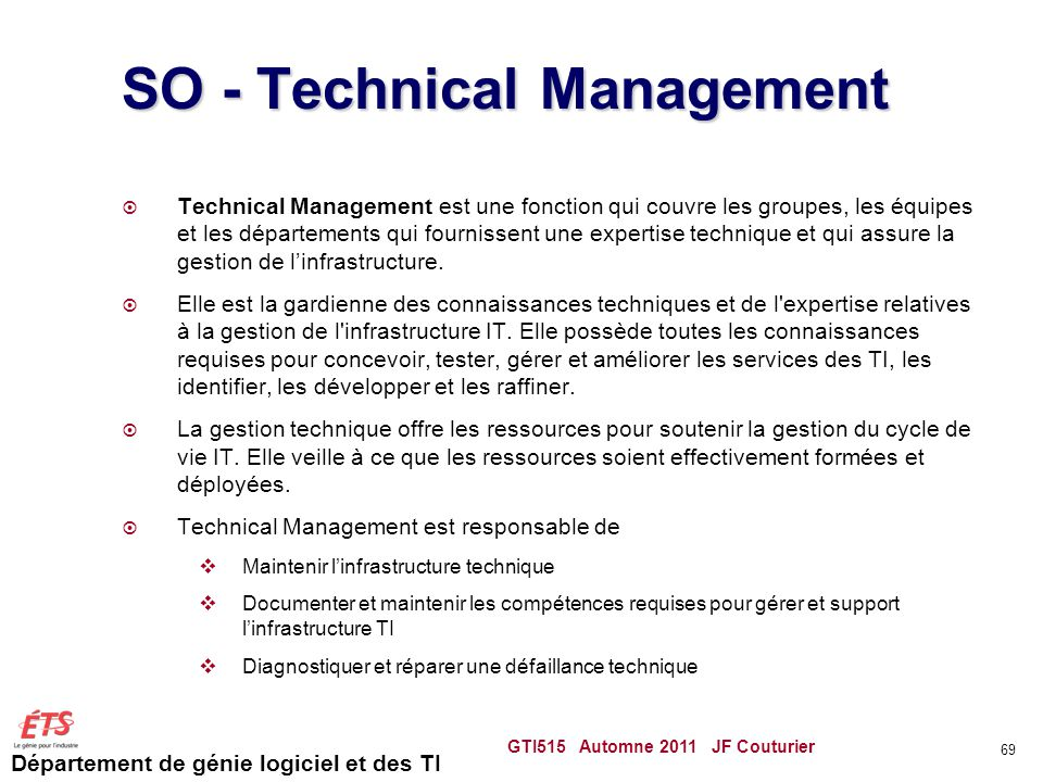 SO - Technical Management
