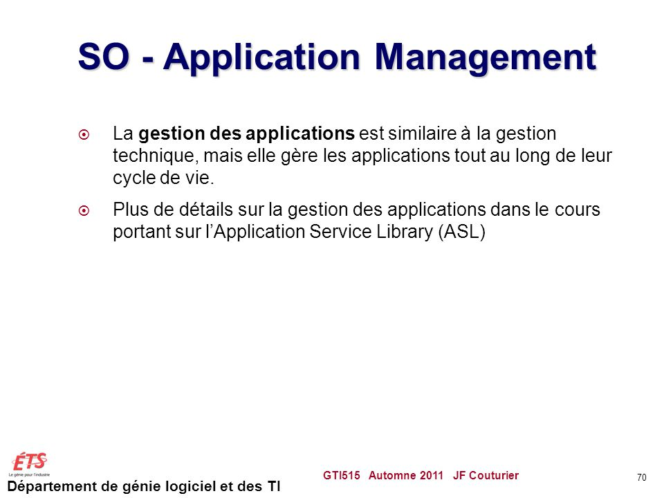 SO - Application Management