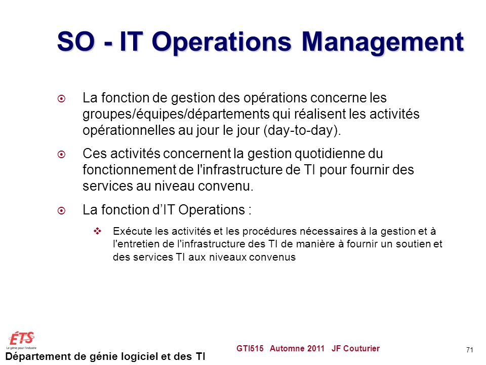 SO - IT Operations Management