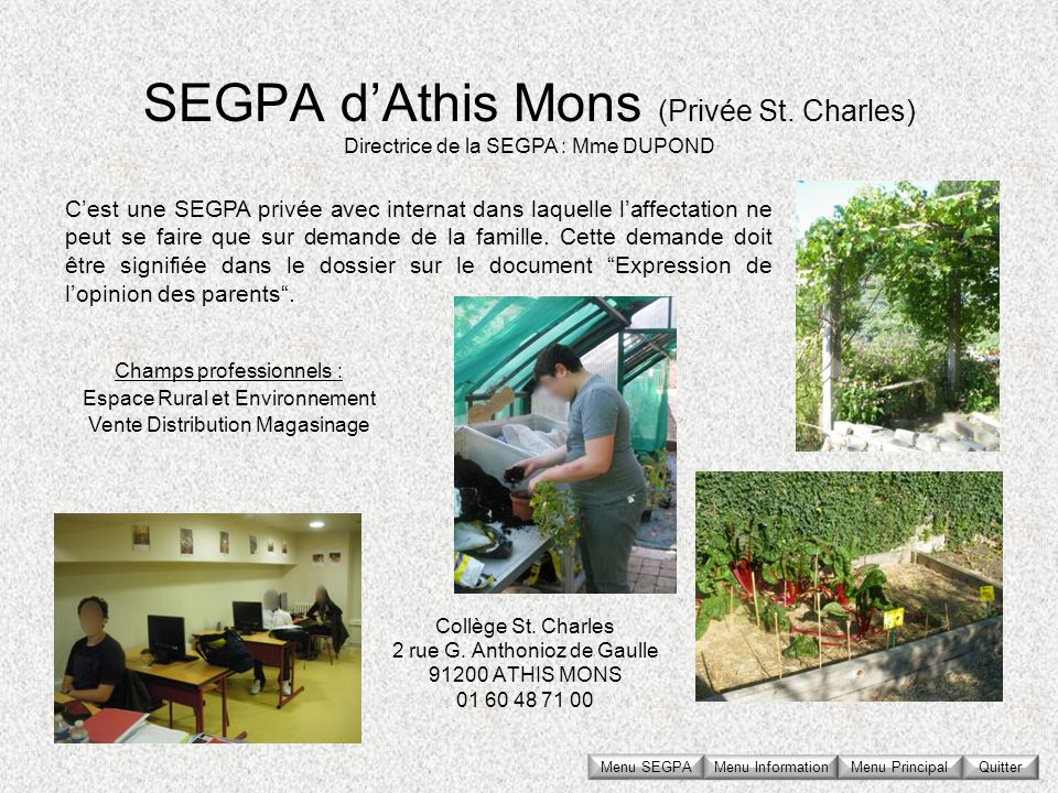 SEGPA d'Athis Mons (Privée St. Charles)