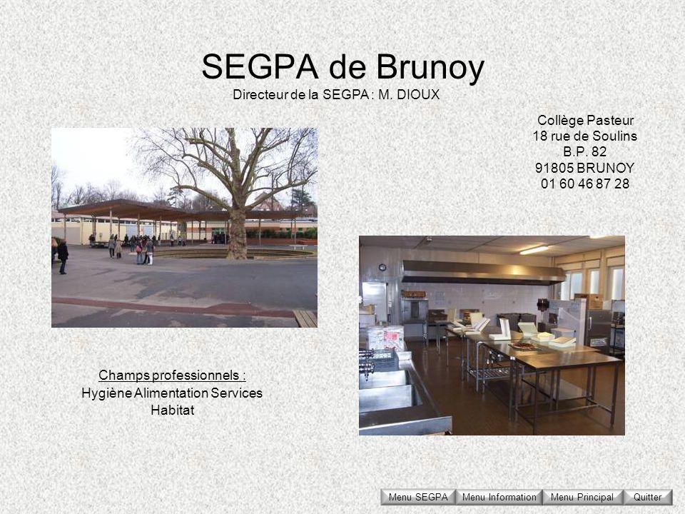 Collège Pasteur 18 rue de Soulins B.P. 82 91805 BRUNOY 01 60 46 87 28