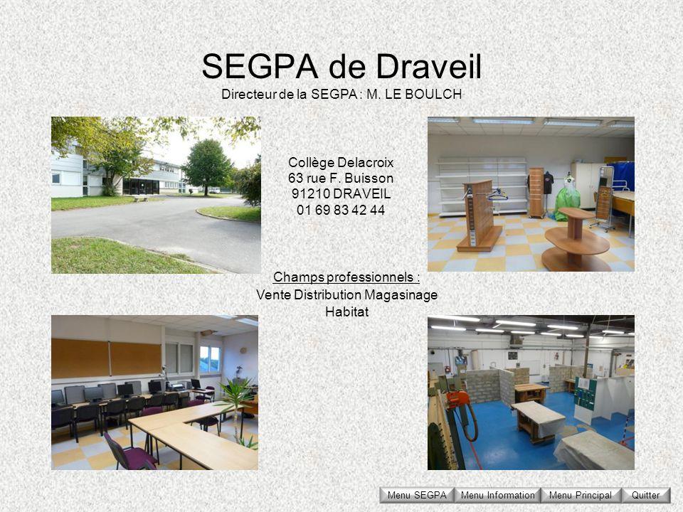 Collège Delacroix 63 rue F. Buisson 91210 DRAVEIL 01 69 83 42 44