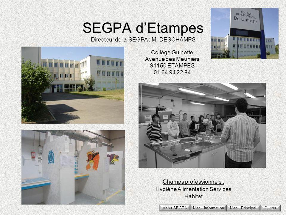 Collège Guinette Avenue des Meuniers 91150 ETAMPES 01 64 94 22 84