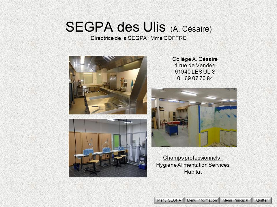 SEGPA des Ulis (A. Césaire)