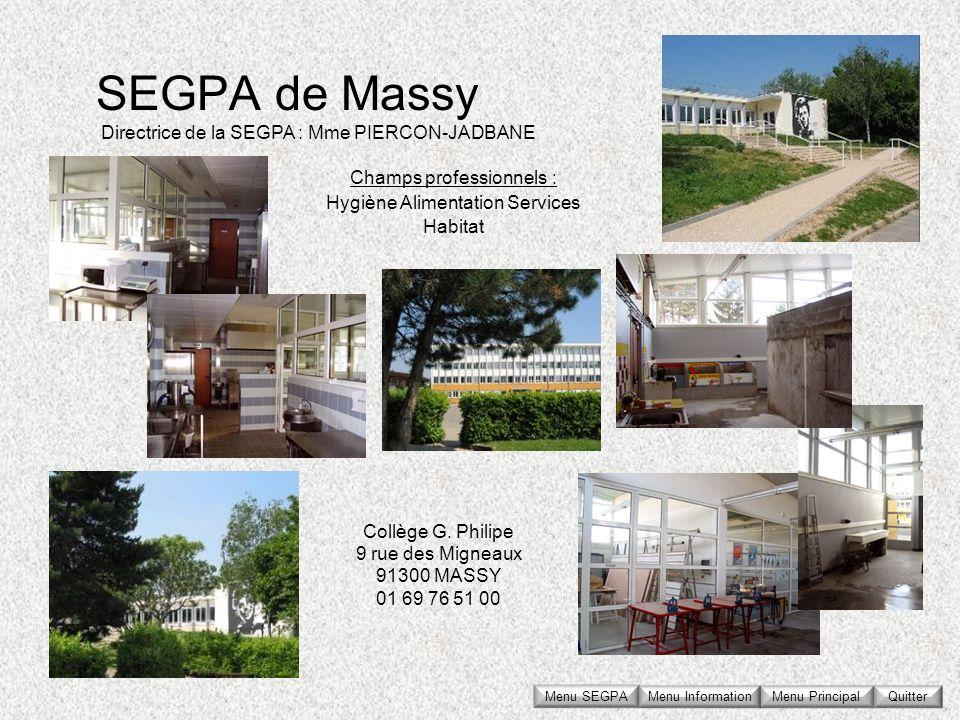 Collège G. Philipe 9 rue des Migneaux 91300 MASSY 01 69 76 51 00