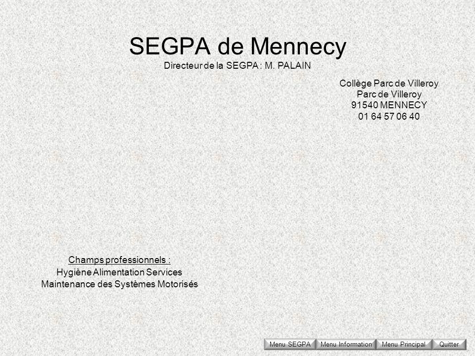Collège Parc de Villeroy Parc de Villeroy 91540 MENNECY 01 64 57 06 40