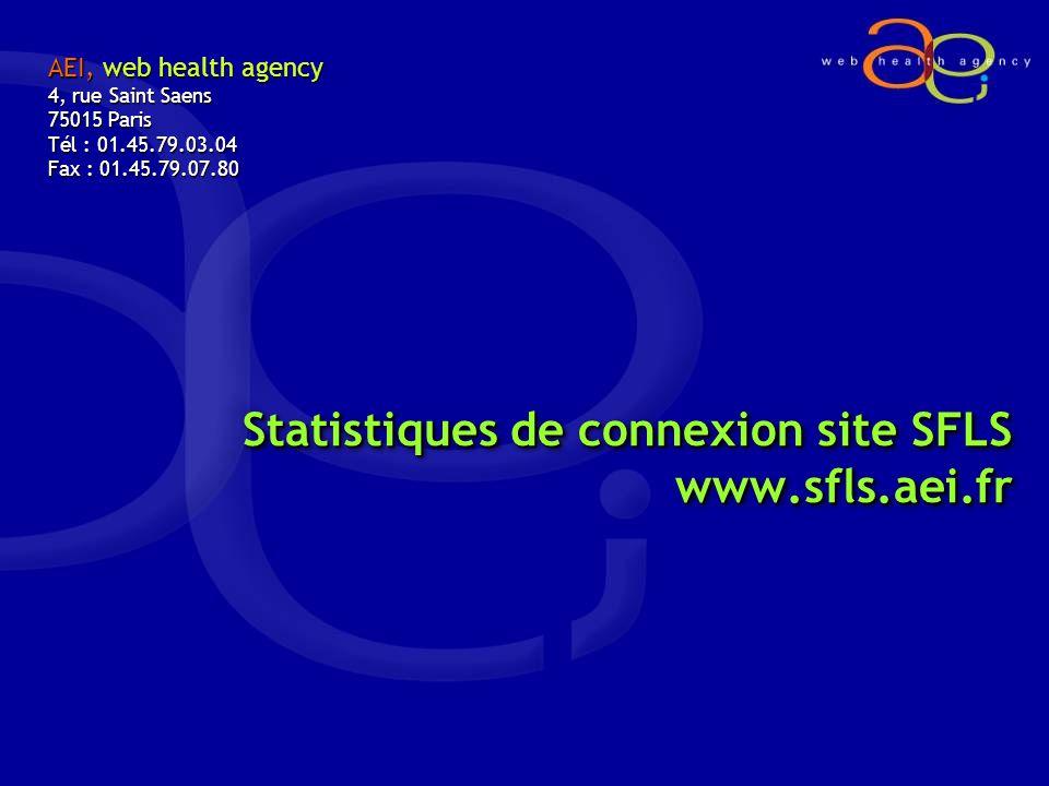 Statistiques de connexion site SFLS www.sfls.aei.fr