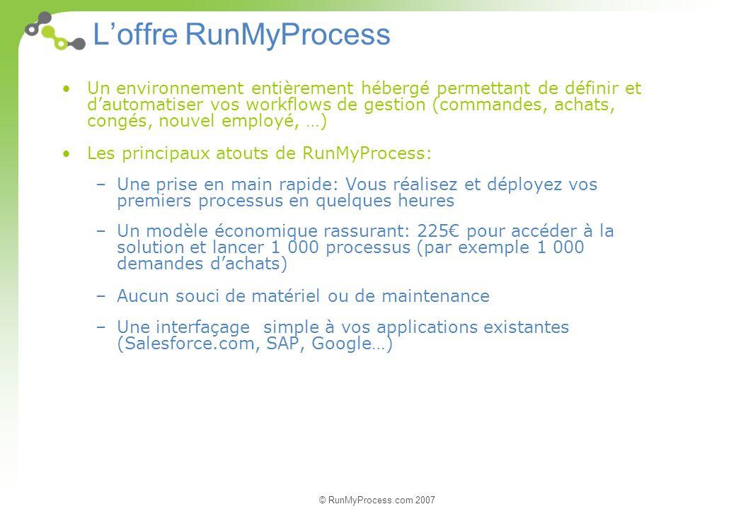L'offre RunMyProcess