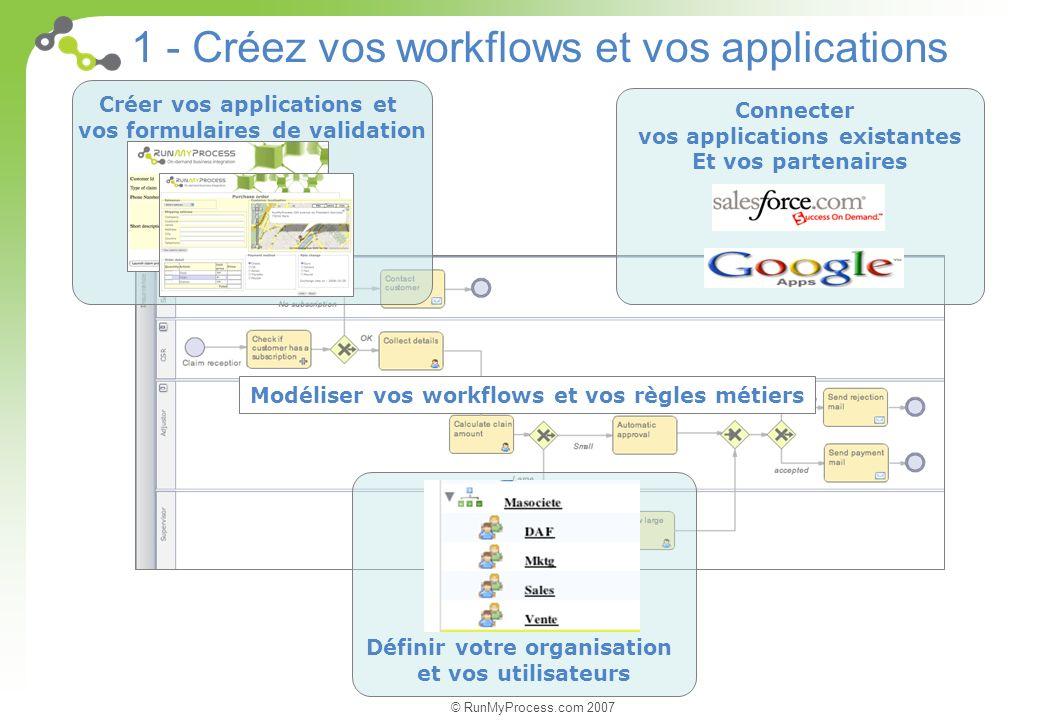 1 - Créez vos workflows et vos applications