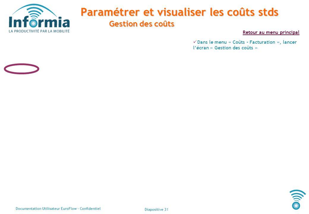 Paramétrer et visualiser les coûts stds Gestion des coûts