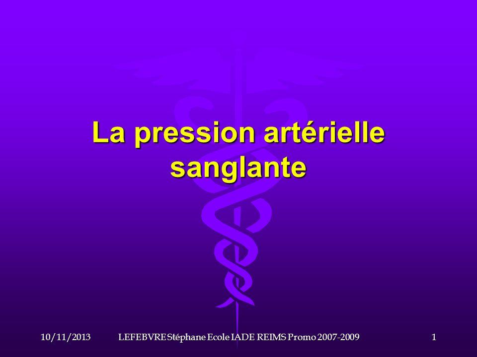 La pression artérielle sanglante