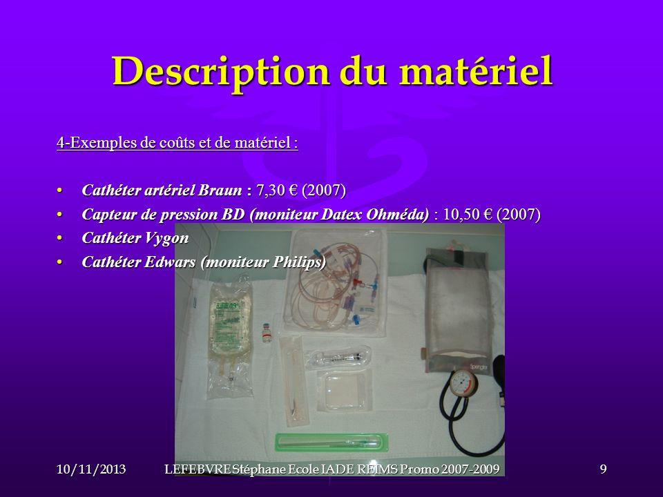 Description du matériel