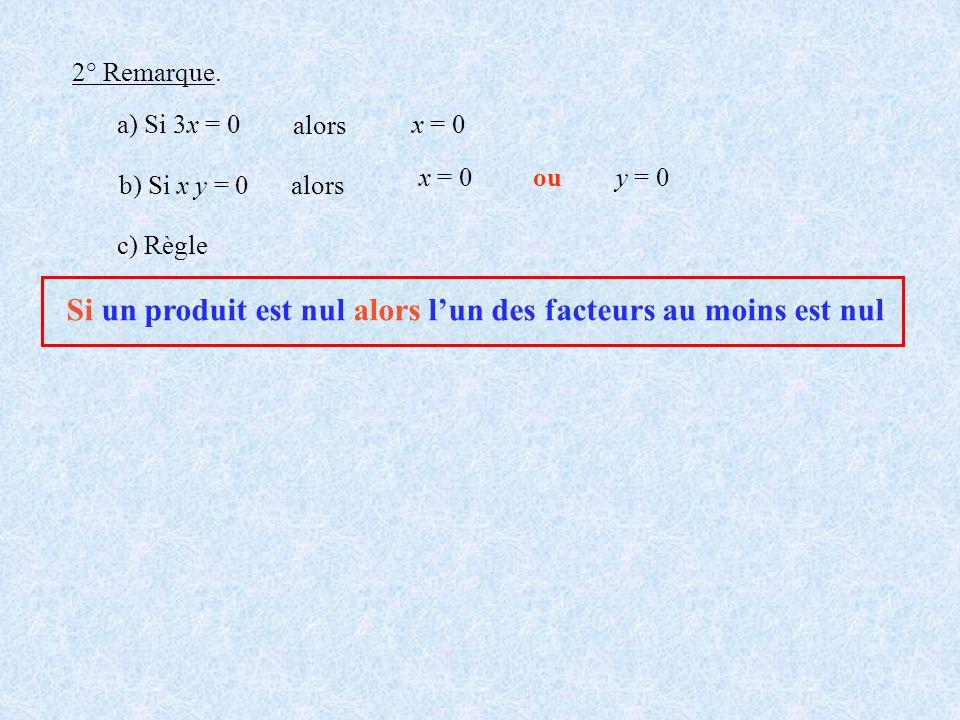 Si un produit est nul alors l'un des facteurs au moins est nul