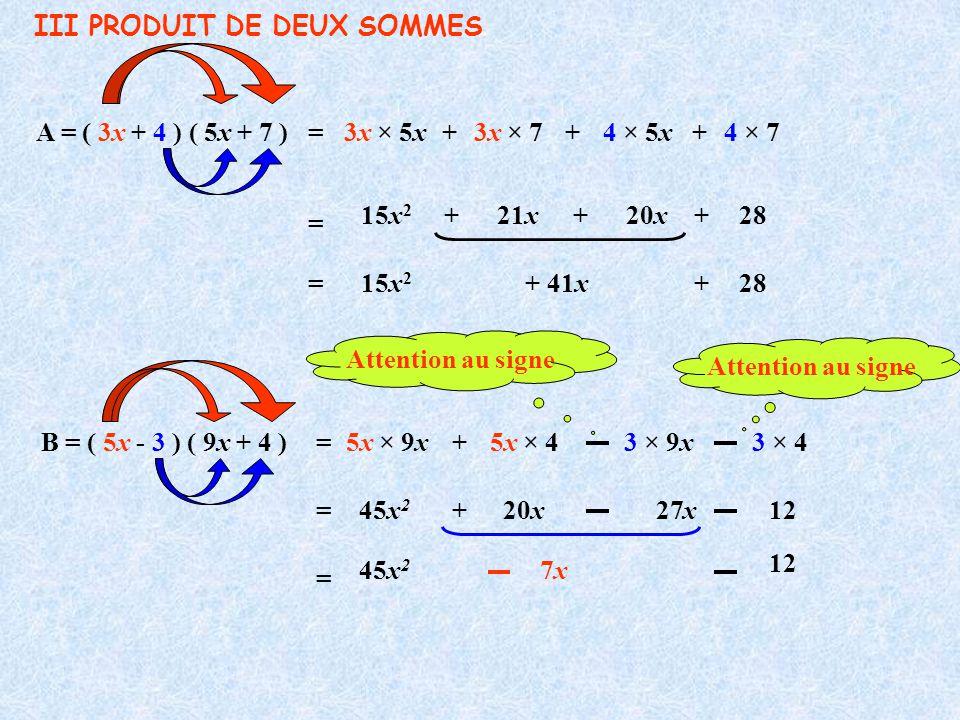 III PRODUIT DE DEUX SOMMES