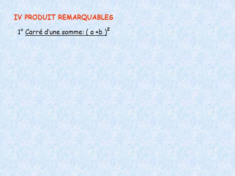 IV PRODUIT REMARQUABLES