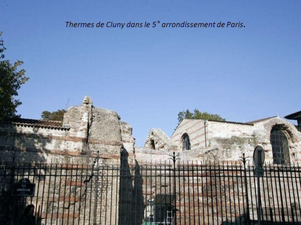 Thermes de Cluny dans le 5° arrondissement de Paris.