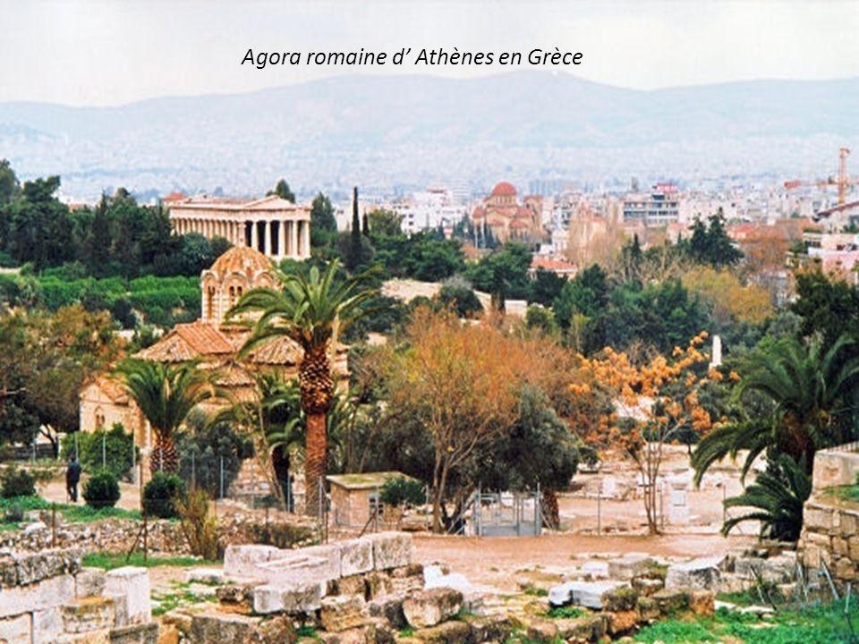 Agora romaine d' Athènes en Grèce