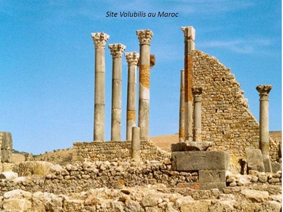 Site Volubilis au Maroc