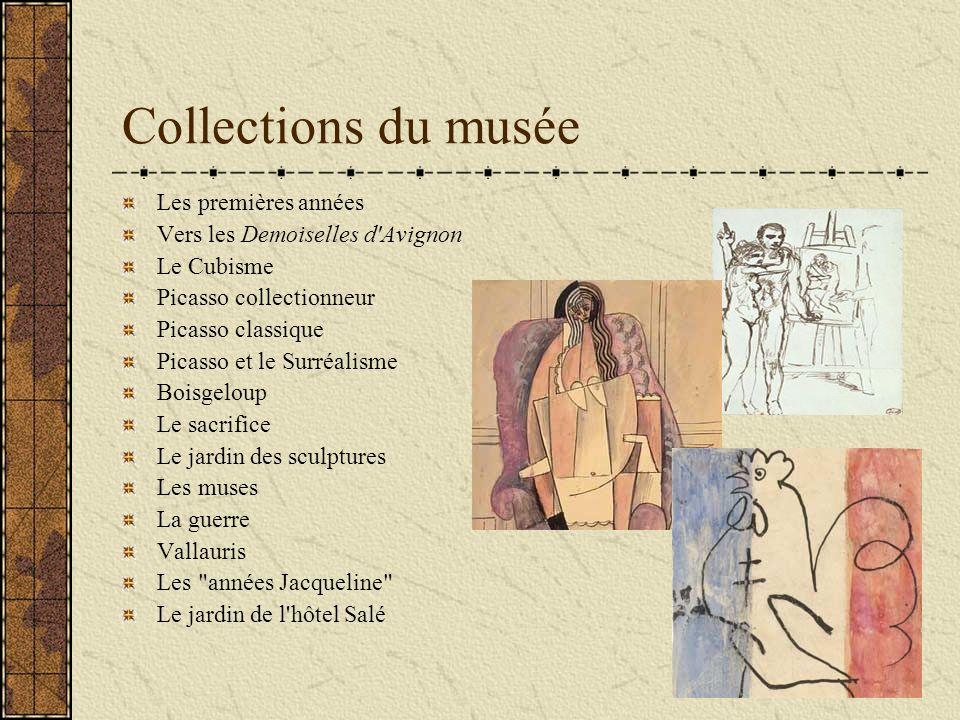 Collections du musée Les premières années