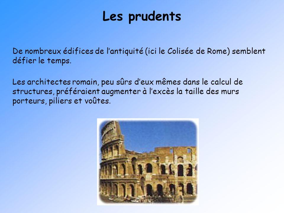 Les prudents De nombreux édifices de l'antiquité (ici le Colisée de Rome) semblent défier le temps.