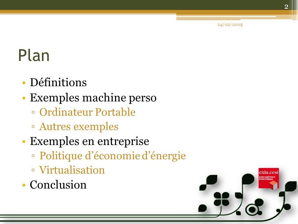 Plan Définitions Exemples machine perso Exemples en entreprise
