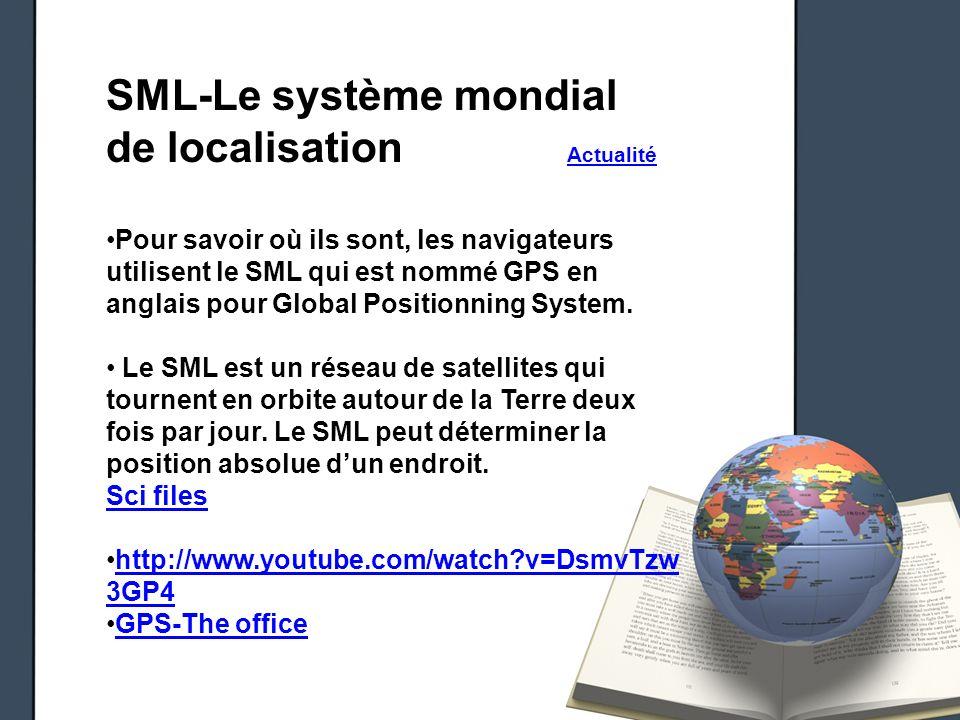 SML-Le système mondial de localisation Actualité