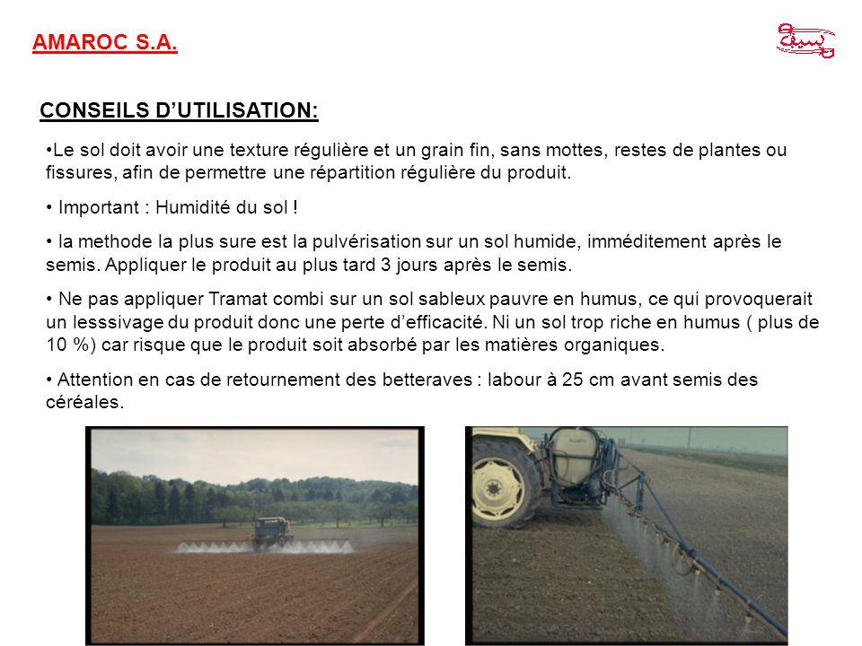 CONSEILS D'UTILISATION: