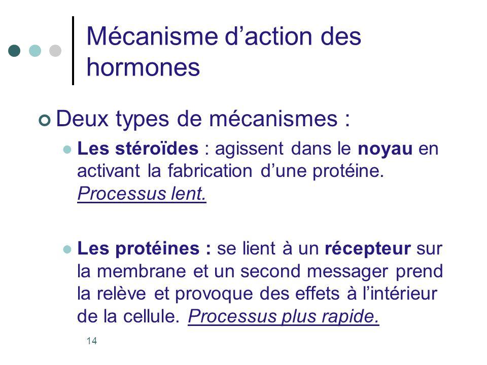 Mécanisme d'action des hormones