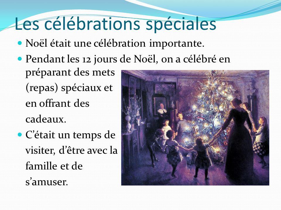 Les célébrations spéciales