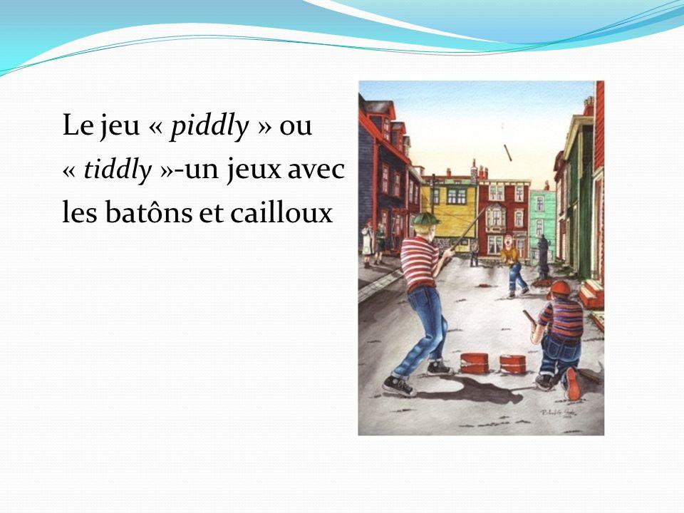 Le jeu « piddly » ou « tiddly »-un jeux avec les batôns et cailloux