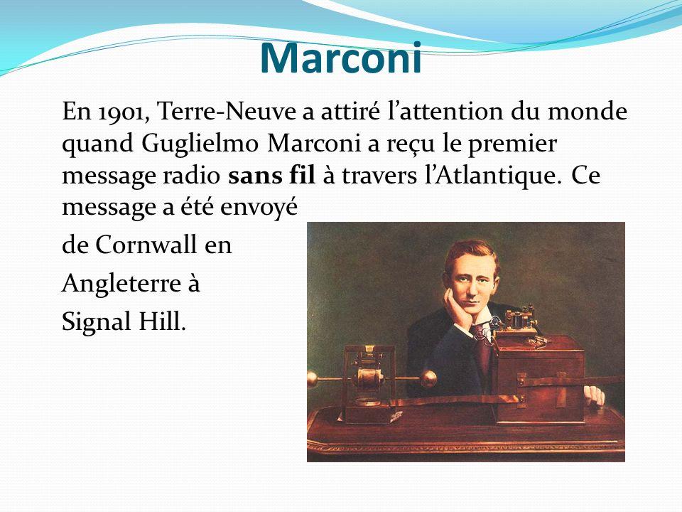 Marconi de Cornwall en Angleterre à Signal Hill.