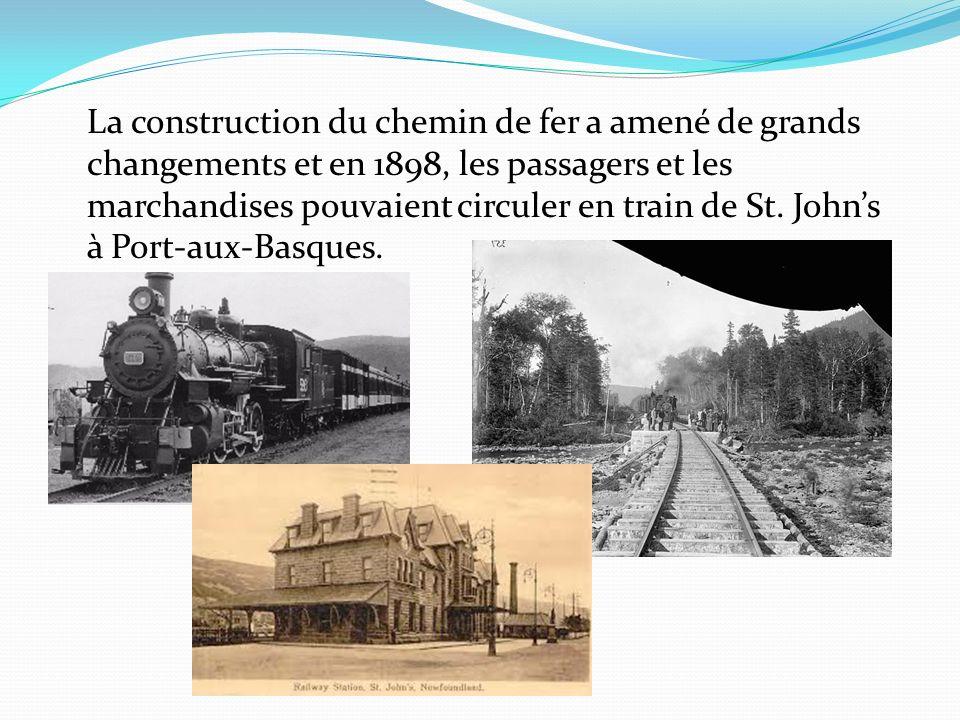 La construction du chemin de fer a amené de grands changements et en 1898, les passagers et les marchandises pouvaient circuler en train de St.