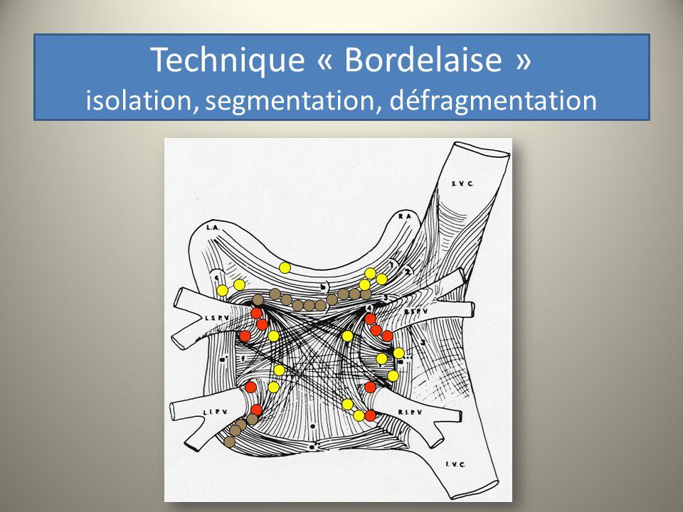 Technique « Bordelaise » isolation, segmentation, défragmentation