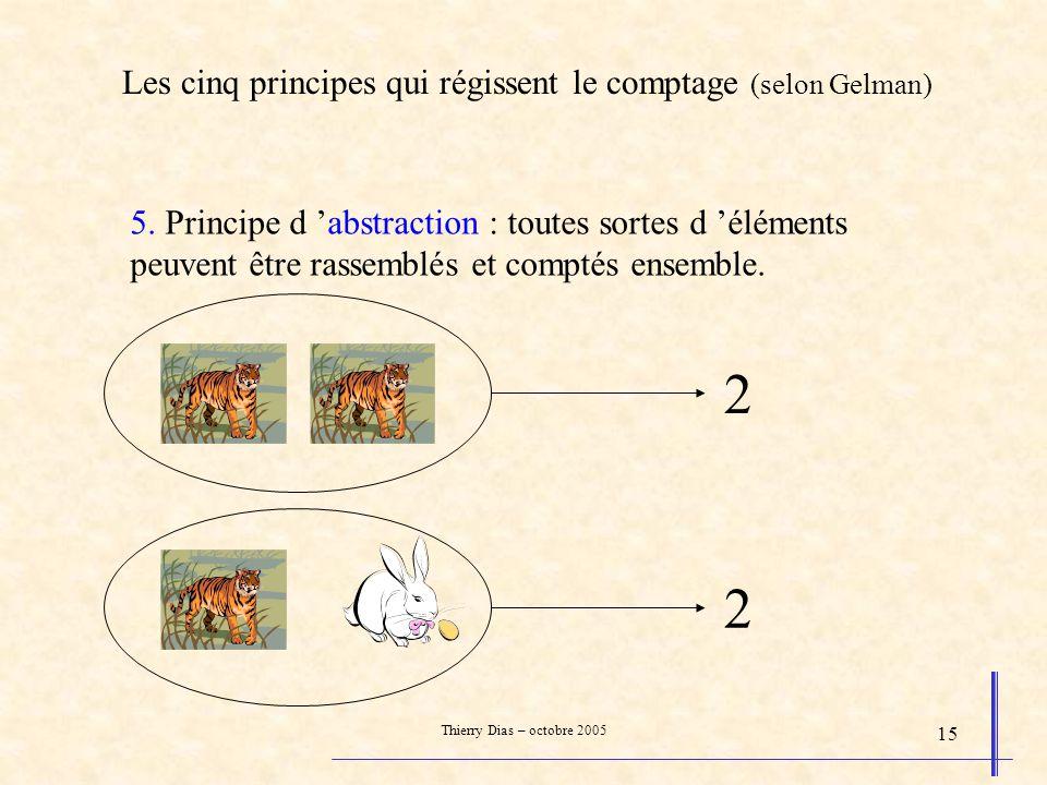 2 2 Les cinq principes qui régissent le comptage (selon Gelman)