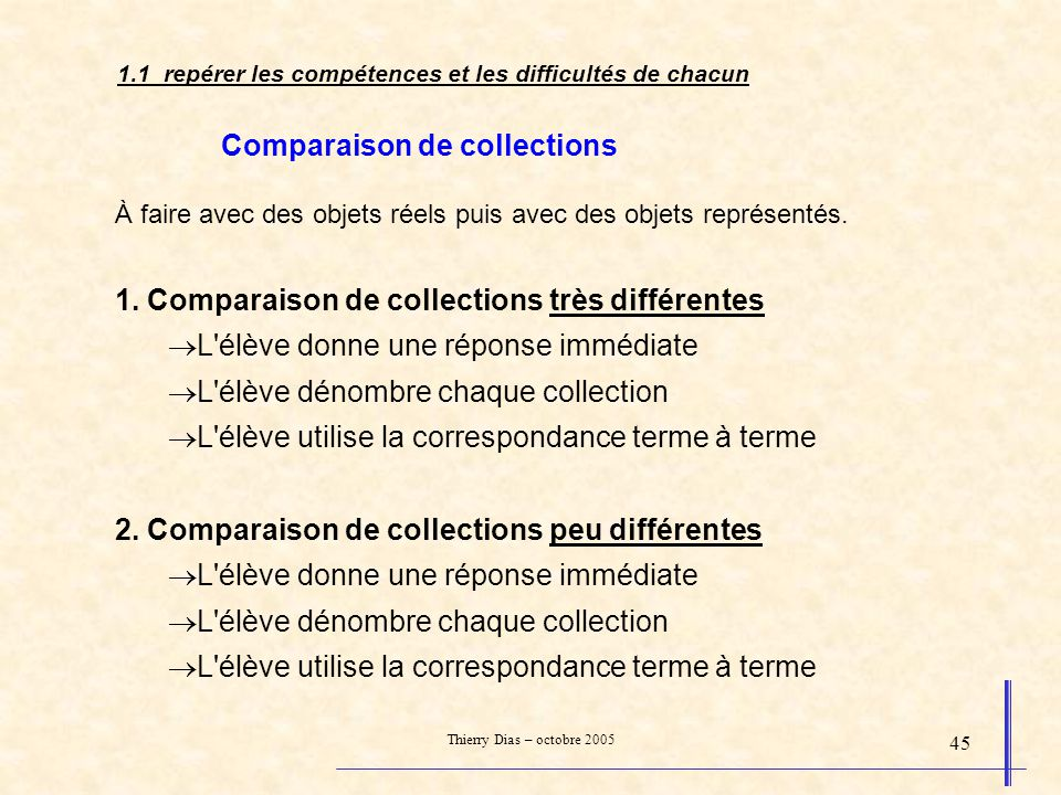 Comparaison de collections