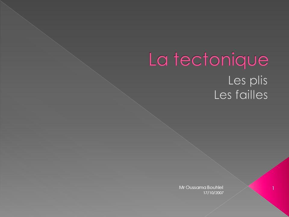 La tectonique Les plis Les failles Mr Oussama Bouhlel 17/10/2007
