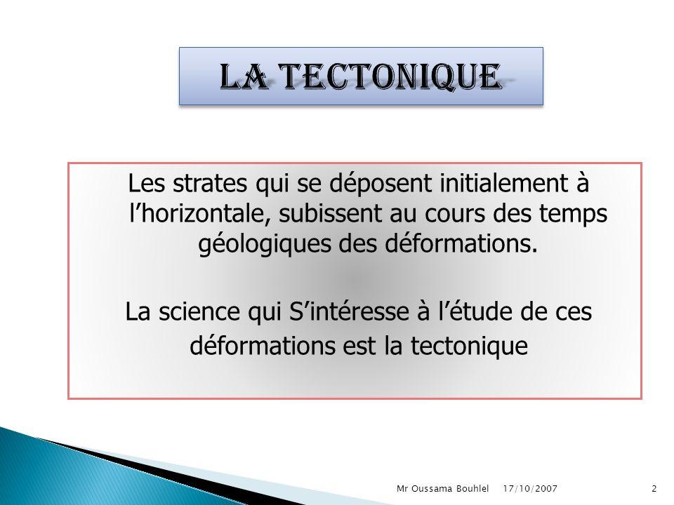 La tectonique
