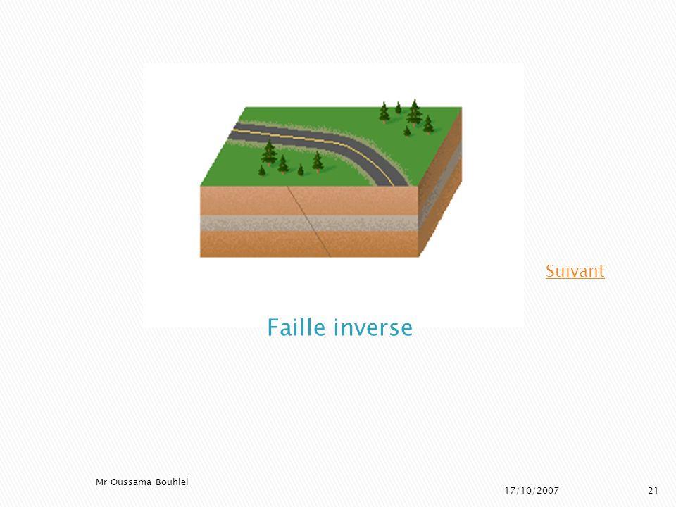 Suivant Faille inverse Mr Oussama Bouhlel 17/10/2007