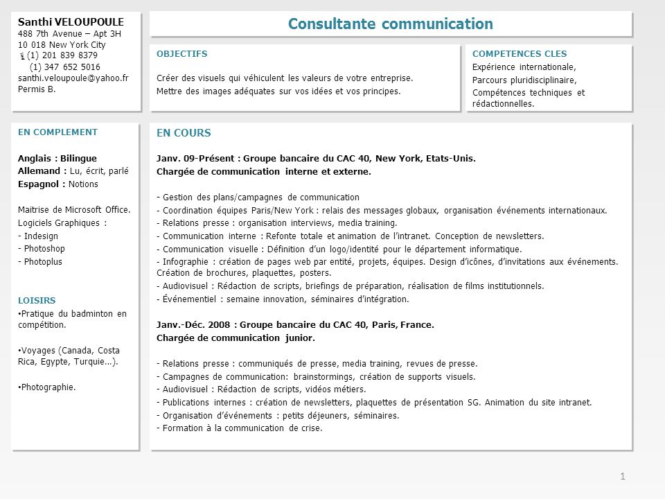 Consultante communication