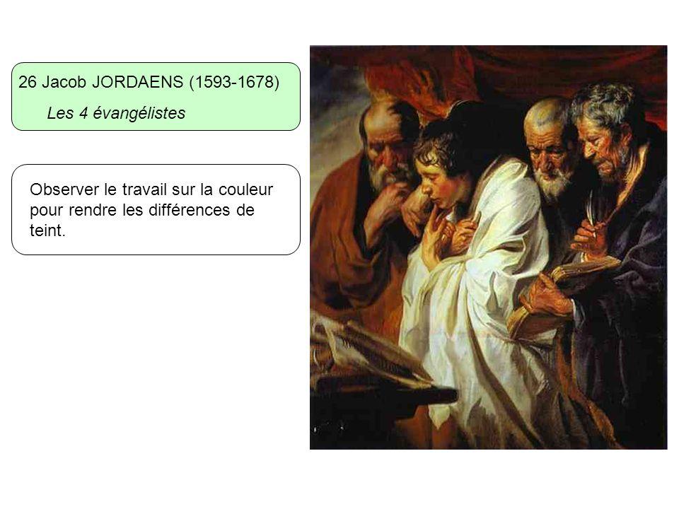 26 Jacob JORDAENS (1593-1678) Les 4 évangélistes.