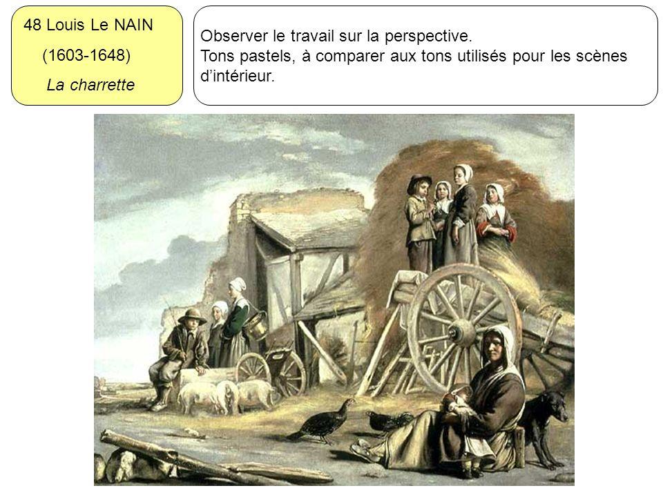 48 Louis Le NAIN (1603-1648) La charrette. Observer le travail sur la perspective.