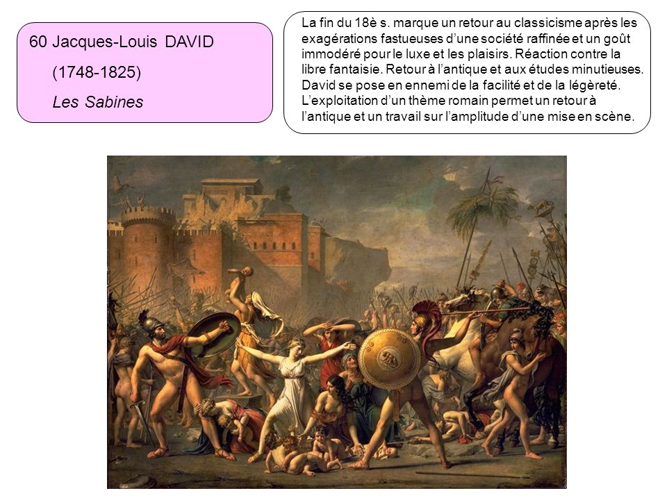 60 Jacques-Louis DAVID (1748-1825) Les Sabines