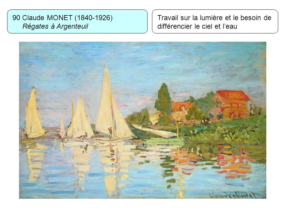 90 Claude MONET (1840-1926) Régates à Argenteuil.