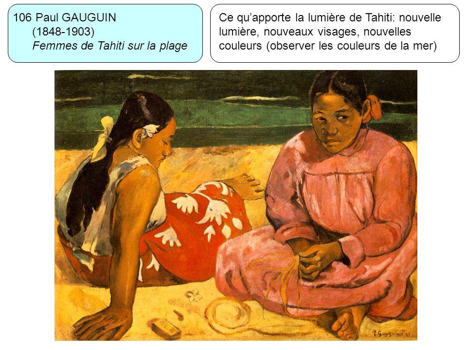 106 Paul GAUGUIN (1848-1903) Femmes de Tahiti sur la plage.