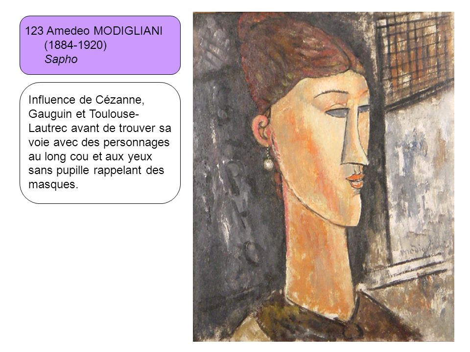 123 Amedeo MODIGLIANI (1884-1920) Sapho.