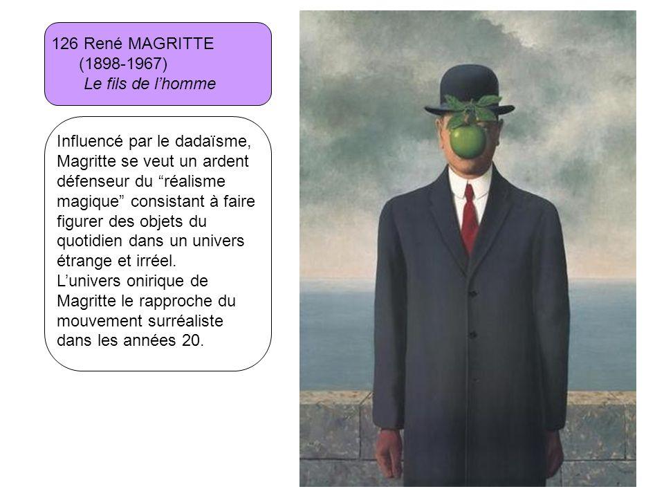 126 René MAGRITTE (1898-1967) Le fils de l'homme.