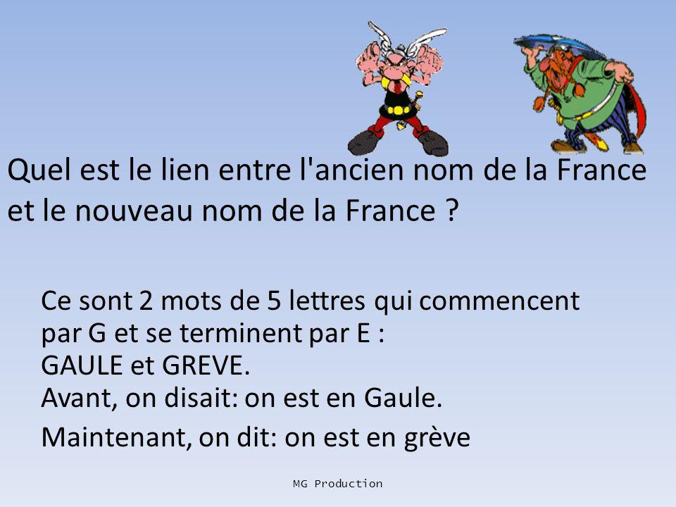 Quel est le lien entre l ancien nom de la France et le nouveau nom de la France
